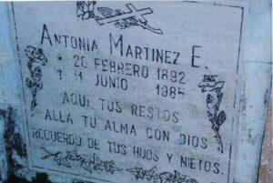 Antonia's Gravestone